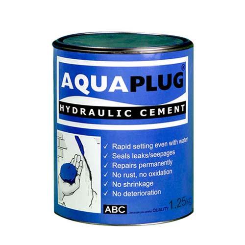 ABC Description: Aquaplug Hydraulic cement Content: 5kg