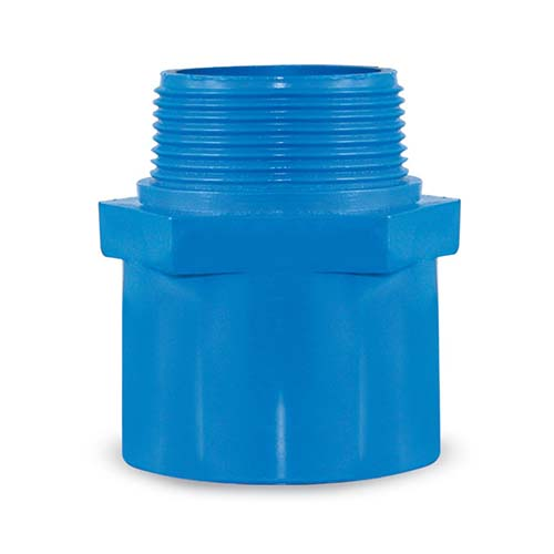 """EMERALD PVC Blue Male Thread Adaptor Available in:  - ½"""" - ¾"""" - 1"""" - 1¼"""" - 1½"""" - 2"""""""