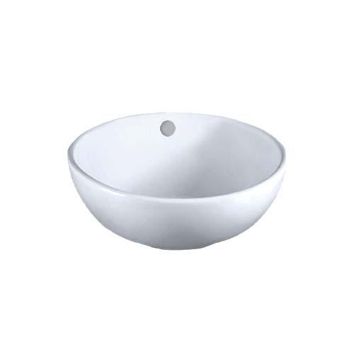 LA FONZA Lavatory • Round • White Size: 410 x 175 mm Code: K73