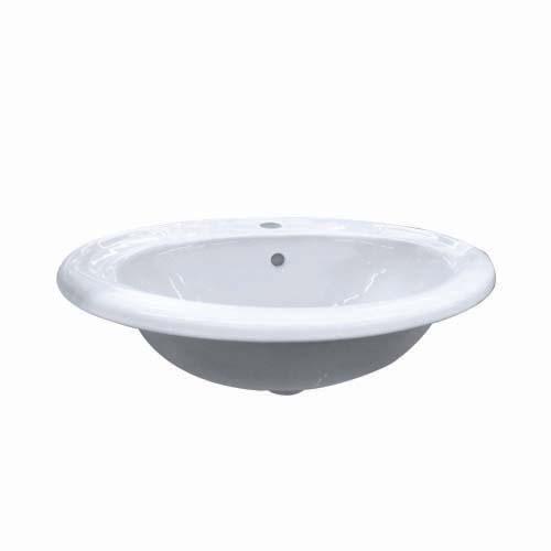 LA FONZA Countertop Lavatory • Carrara •  White Size: 560 x 470 x 205 mm Code: LFD100