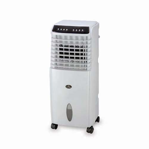 "BOSTON BAY Description: Air Cooler Voltage: a.c. 230V, 60Hz, ""T"" Rated power: 130W Water consumption: 1.3L Wind speed: 7m/s Code: HLB-115B"