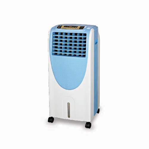 """BOSTON BAY Description: Air Cooler Voltage: a.c. 230V, 60Hz, """"T"""" Rated power: 130W Water consumption: 1.3L Wind speed: 10.5m/s Code: HLB-12A"""