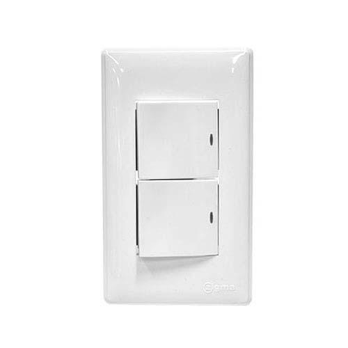 ZIGMA 2-Gang 2-Way Switch Set • Wide series Code: ZWD208