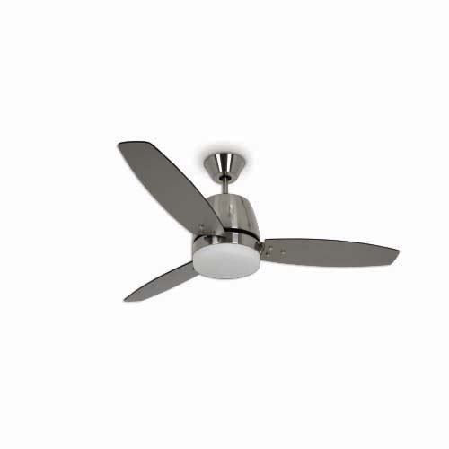 BOSTON BAY Decorative Ceiling Fan • 52 in • 3 pcs. plywood blade • 3 Speed pull chain • Light - 9.2 in frosted opal glass - E-27  - Max 20W (Bulb not included) Code: 3AT52BN+LK Fairbanks
