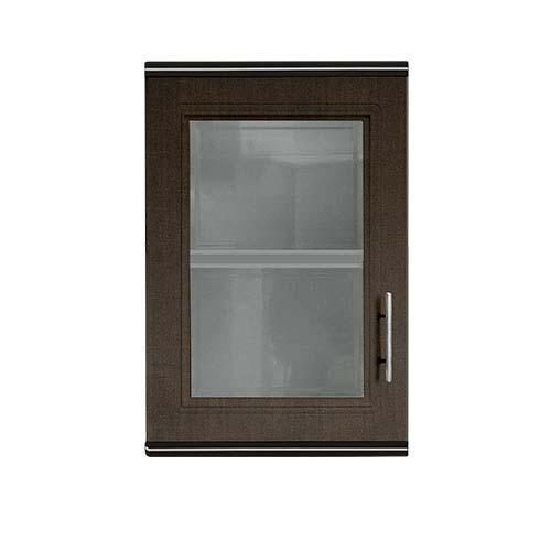 KING  Hang Cabinet •Zircon series • Single door • ABS •Dark oak • 45 x 34 x 68cm