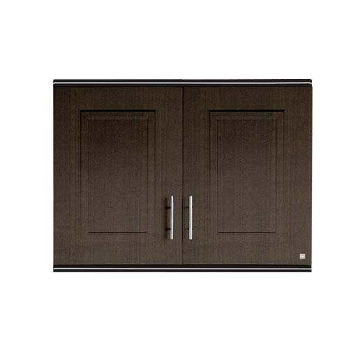 KING Hang Cabinet •Pearl series • Double door •ABS •Dark oak • 90 x 34 x 68cm