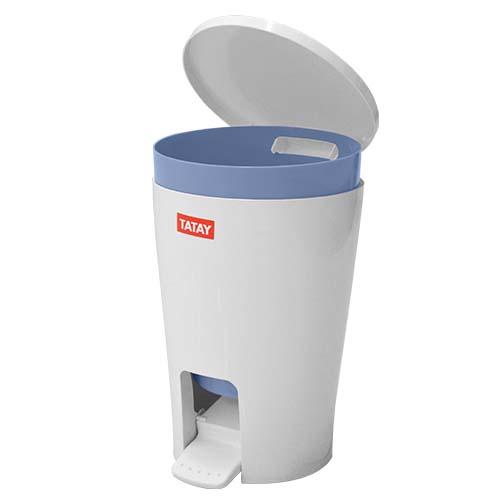 TATAY Description: Bathroom Bin Capacity: 5L Color: Diabolo Blue  Code: 4434900