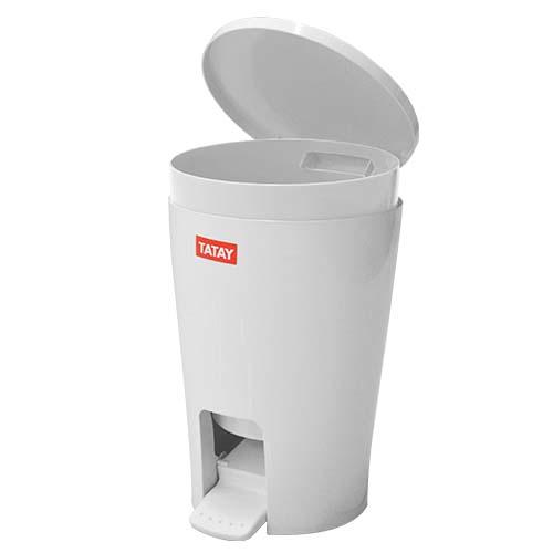 TATAY Description: Bathroom Bin Capacity: 5L Color: Diabolo White Code: 4434901