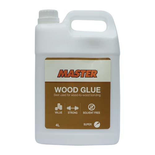 MASTER Description: Wood Glue Best used for wood-to-wood Content: 4L