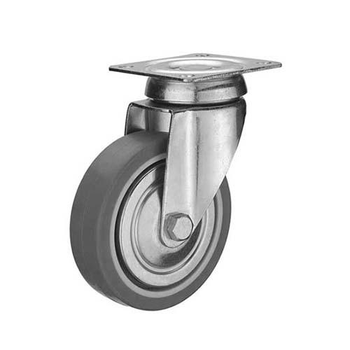 HAUSMANN Description: Swivel Caster  Single ball bearing Sizes: 1.25, 1.5, 2 Material: Thermoplastic Rubber