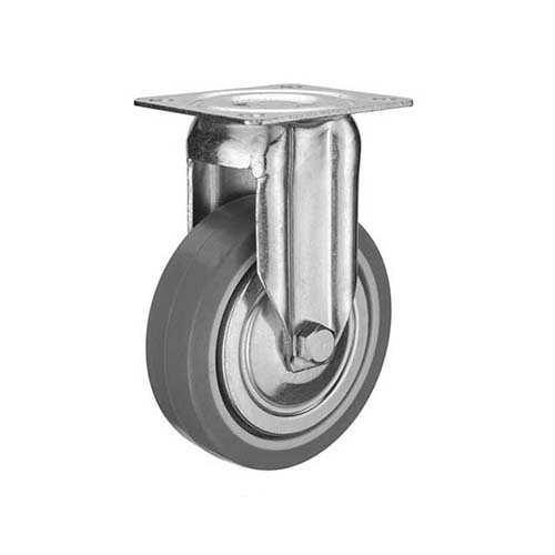 HAUSMANN Description: Fixed Caster  Single ball bearing Sizes: 1.25 Material: Thermoplastic Rubber