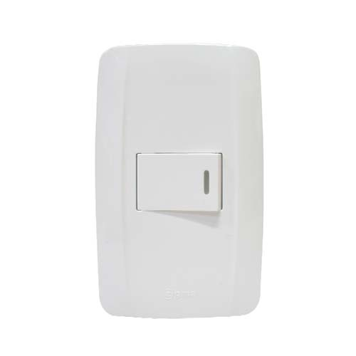 ZIGMA 1-Gang 1-Way Switch  • Medium series Code: ZMSS109