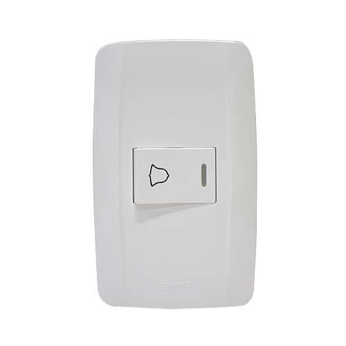 ZIGMA 1-Gang Doorbell Switch • Medium series Code: ZMDBS112