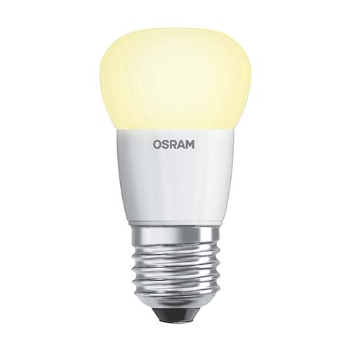 OSRAM Candle Bulb • E27 • Warm white (2700K) Available in: - 3.3W - 4.5W