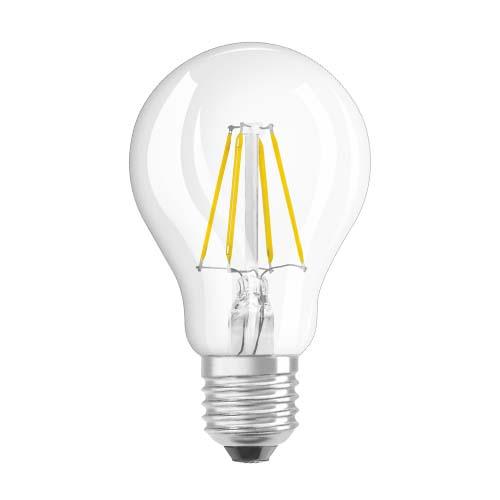 OSRAM LED Filament Bulb • 4W • E27 • Warm white (2700K) Code: LS CLA40