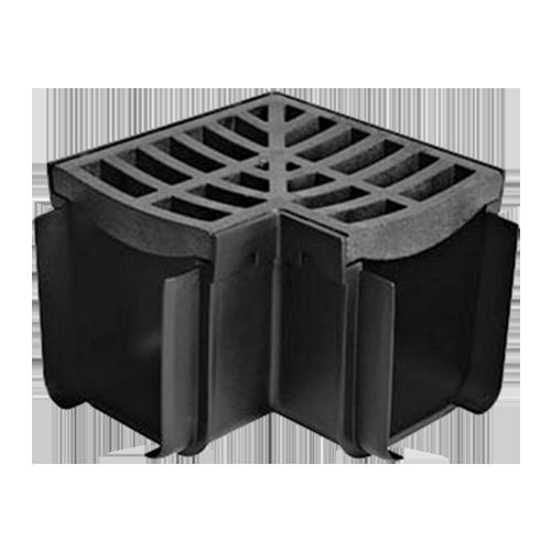 RELN Description: Corner with Plastic Grate Deep profile: 129mm Size: 181 x 181 x 129mm Code: 003565