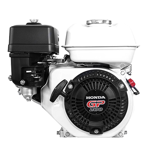 HONDA Engine • 196 cc displacement • 6.5 Hp gross power • 3600 rpm max engine speed • 1800 rpm PTO speed • 3.1 L fuel tank capacity • For concrete vibrator Code: GP200H QH1