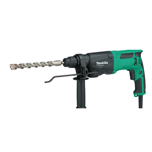 MAKITA Description: Rotary Hammer Double insulated Continuous rating input: 710W Capacity on concrete: 22mm Capacity on steel: 13mm Capacity on wood: 32mm Drilling capacity with core bit: 54mm Drilling capacity with diamond core bit: 62mm No load speed: 0-1100rpm Blows per minute: 0-4350