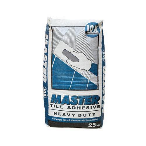 MASTER Description: Tile Adhesive  Heavy duty Content: 25kg