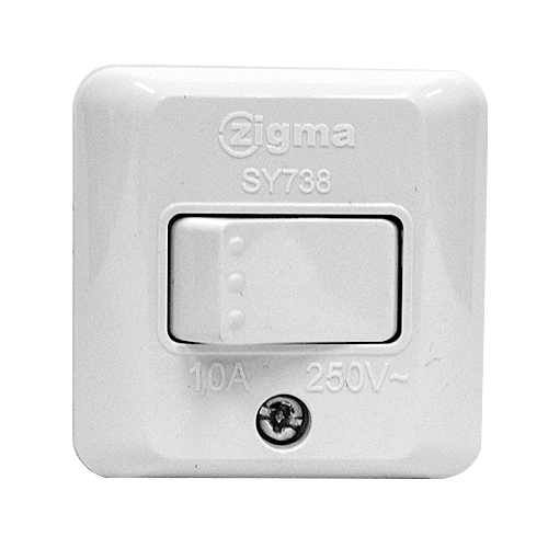 ZIGMA 1 Gang Surfaced Type Switch •Medium series • 10A Code: SY738