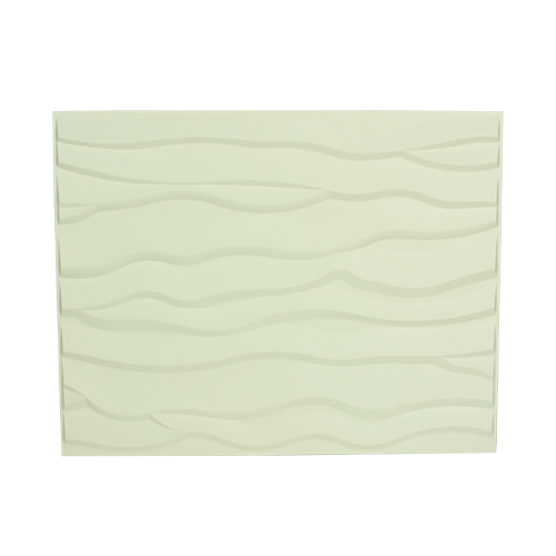 ART DECO 3D Wall Panel •625x800mm •White wall accent •Made from natural plant fiber Code: BEACH