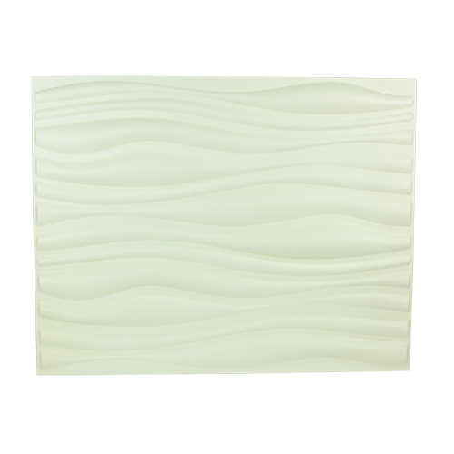ART DECO 3D Wall Panel •625x800mm •White wall accent •Made from natural plant fiber Code: INREDA
