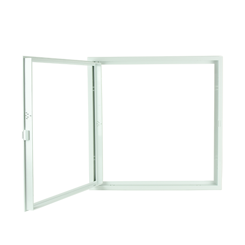POLYWOOD White Open Type Ceiling Access Panel •450 mm x 450 mm •fit in various ceiling types •ABS Material, durable Code: CPS1219