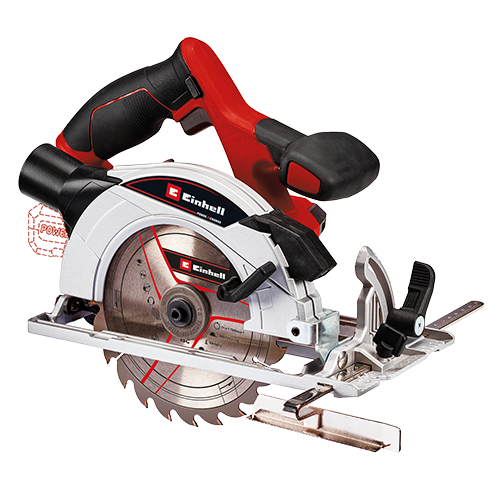 EINHELL Cordless Circular Saw (solo) • Member of the Power X-Change family  - without Battery Pack • Easy adjustment without tools (cutting depth, tilt angle) • Dust extractor adapter to keep the workplace clean Code: 4331207