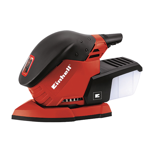 EINHELL  Multi-Sander  • Velcro fastening system • Dust collection box with filter • Soft grip Code: 4460560