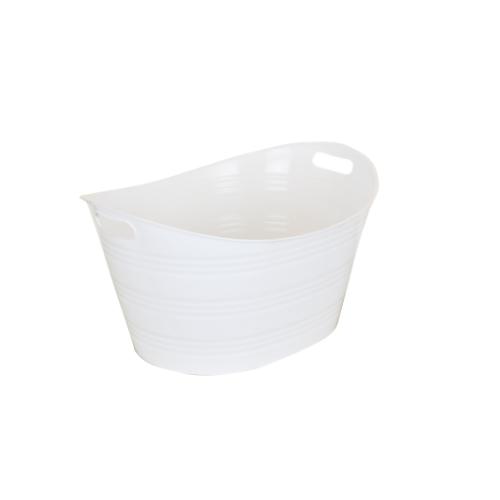 STACK Plastic Bucket - White • 41cm X 53.2cm X 20cm • Easy to clean • Multipurpose storage bucket Code: CITIIB0027