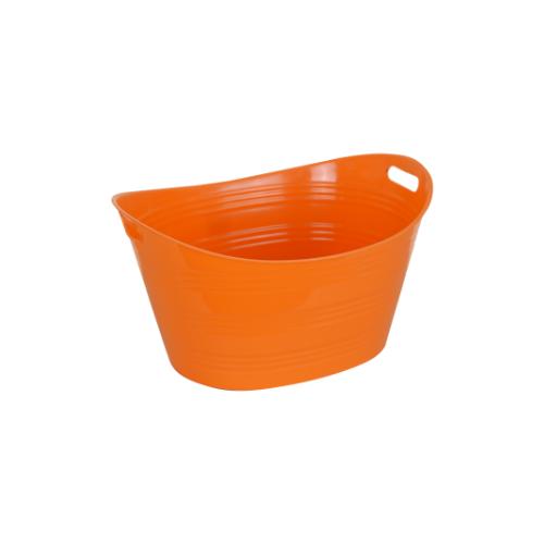 STACK Plastic Bucket - Orange  • 41cm X 53.2cm X 20cm • Easy to clean • Multipurpose storage bucket Code: CITIIB0027