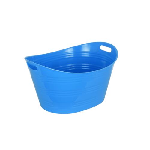 STACK Plastic Bucket - Blue • 41cm X 53.2cm X 20cm • Easy to clean • Multipurpose storage bucket Code: CITIIB0027