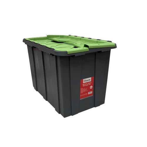STACK Storage Bin • 66cm x 41cm x 42.5cm • 80 Liter capacity • interlocking Flip lid • Padlock eyelets for security Code: SSA1219-CITIH0080G