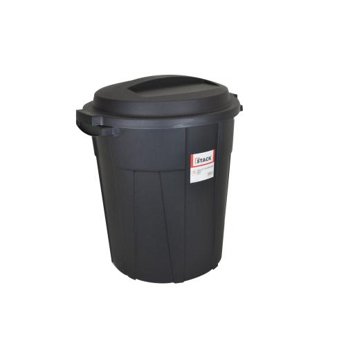 STACK Multi-purpose Bin • Black • 60 liter capacity • UV resistant materials • Made of heavy duty plastic Code: RBC819-0060