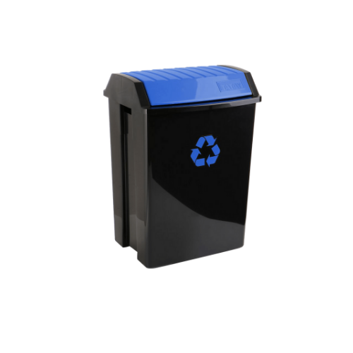 TATAY Trash Bin • Blue • 40.4cm X 33.5cm X57cm • 50 liter capacity • Anti-UVA for a longer durability • Suitable for both indoors and outdoors Code: 1102300