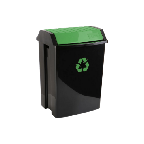 TATAY Trash Bin • Green • 40.4cm X 33.5cm X57cm • 50 liter capacity • Anti-UVA for a longer durability • Suitable for both indoors and outdoors Code: 1102301