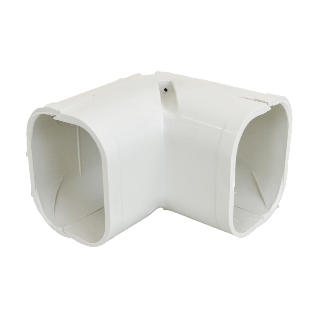 BOSTON BAY SC-75 75mm Corner • High quality ABS Plastic, Easy to connect and install • Leakproof • Suitable for use with aircon / heat pump duct • Strong durable construction will not crack or shatter when you drill or cut it