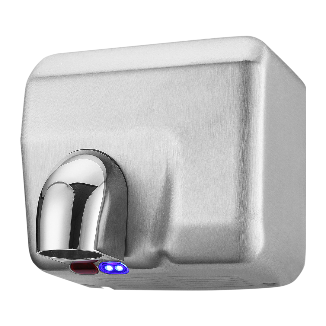 BOSTON BAY Stainless Hand Dryer • Automatic ON/OFF (60 Seconds Auto Shut off ) • External LED light • Cover and Nozzle • Low noise, high airflow Code: HDBK719-1004