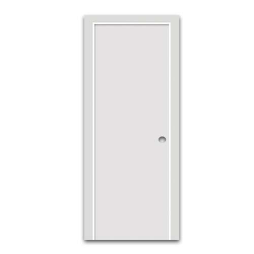 POLYWOOD PVC Door • Plain • White Sizes:  - 60 x 210 cm - 70 x 210 cm