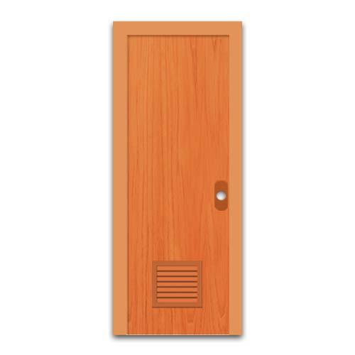 POLYWOOD PVC Door • With louver • Wood Sizes:  - 60 x 210 cm - 70 x 210 cm