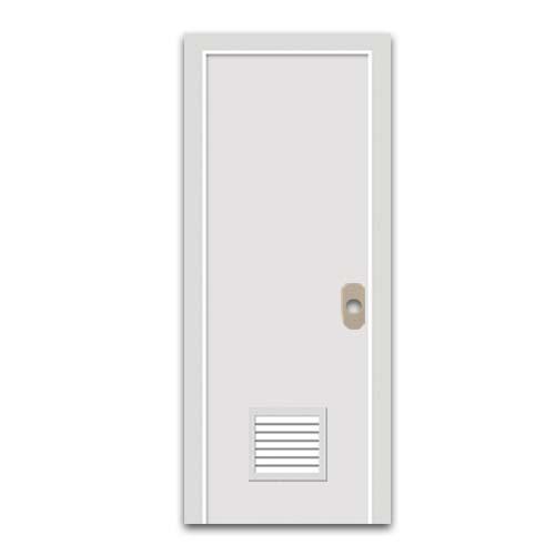 POLYWOOD PVC Door • With louver •White Sizes:  - 60 x 210 cm - 70 x 210 cm