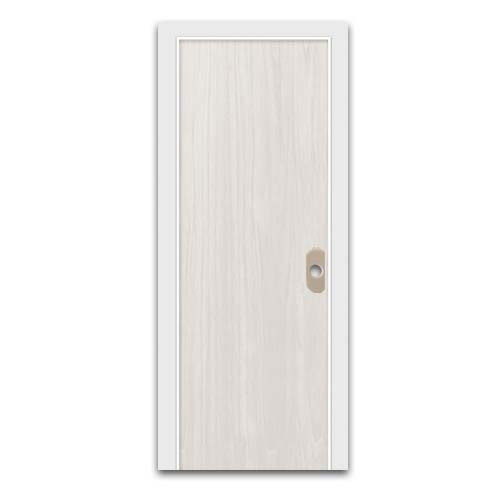 POLYWOOD PVC Door • Plain • White oak Sizes:  - 60 x 210 cm - 70 x 210 cm