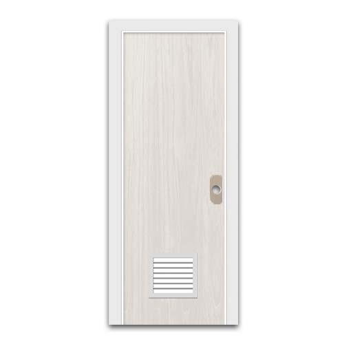 POLYWOOD PVC Door •WIth louver • White oak Sizes: - 60 x 210 cm - 70 x 210 cm