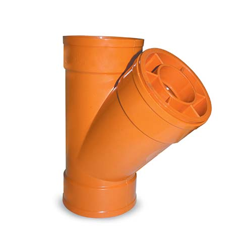 "EMERALD Description: PVC Wye Reducer  Sizes: 3 x 2"", 4 x 2"", 4 x 3"""