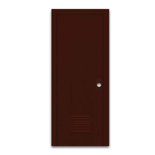POLYWOOD PVC Door • With louver • Dark oak Code: 809-A  Sizes:  - 60 x 210 cm - 70 x 210 cm
