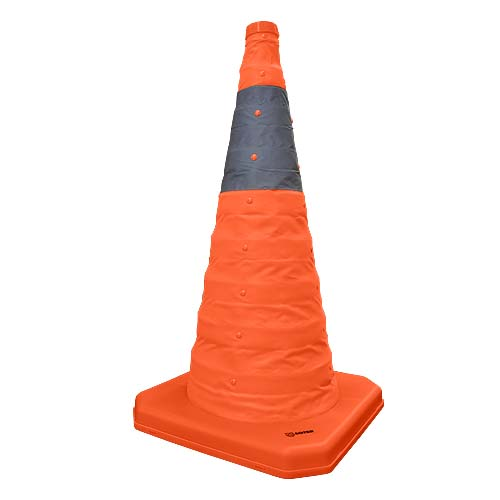 SOTER Description: Retractable Traffic Cone Size: 30cm Code: S-1206 Also available: 50cm