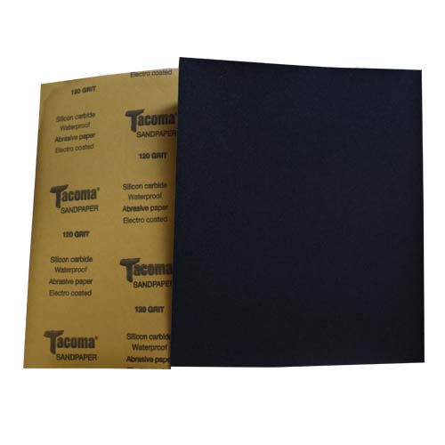 TACOMA Description: Sandpaper  Silicone carbide, waterproof, electro coated Grit Sizes: 220, 240, 400, 1000