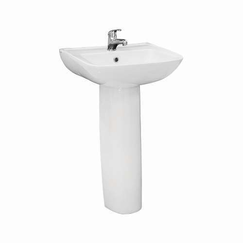 LA FONZA Lavatory with Pedestal • Torino • White Size: 430 x 500 x 852 mm Code: PL30  Item also sold separately