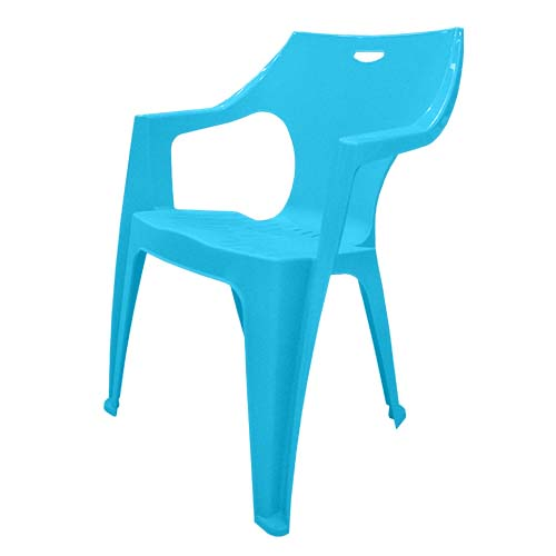 IDEA Description: Monoblock Chair  Color: Aqua Code: Kreta