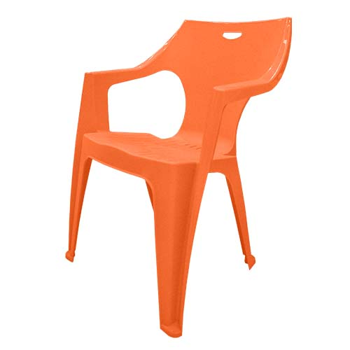 IDEA Description: Monoblock Chair  Color: Orange Code: Kreta